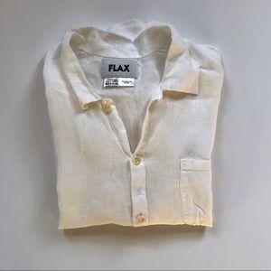 Flax white linen top. Size medium